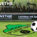 Spielvereinigung-Pleinting - Spielfeld mit Wethje-Banner an der Bande