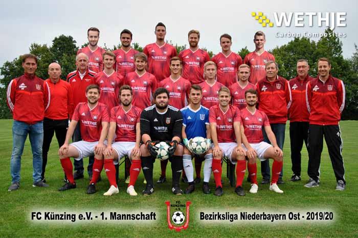 FC Künzing – Unterstützung des Vereins mit neuen Trikots und Bannerwerbung