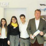Gruppenbild beim Besuch der Wirtschaftsjunioren-Passau