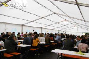 Jubiläum der Wethje GmbH - Partyzelt mit Mitarbeitern