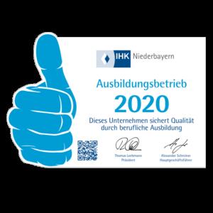 Daumen-Icon Ausbildungsbetrieb 2020 IHK