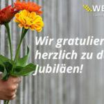 Dienstjubilare im März 2020 - die Wethje GmbH gratuliert!