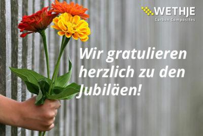 Dienstjubilare im März 2020 – die Wethje GmbH gratuliert!
