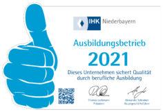 Wethje ist Ausbildungsbetrieb - 2021